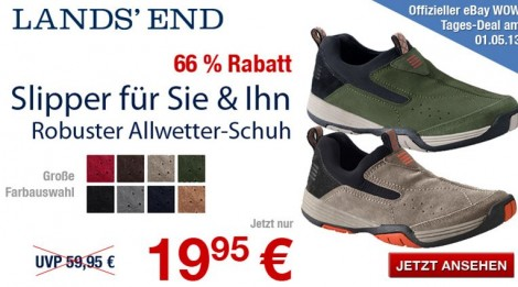 Lands' 95 InklVersand Und Slipper Damen Herren End 19 Euro 2EHD9I