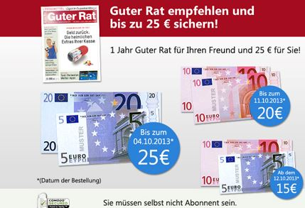 Guter Rat mir 25 Euro