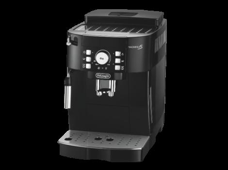 DELONGHI-Magnifica-S-ECAM-21.116.B-Schwarz-Espressomaschine--1.8-Liter-Wassertank--15-bar--Kegelmahlwerk--Schwarz