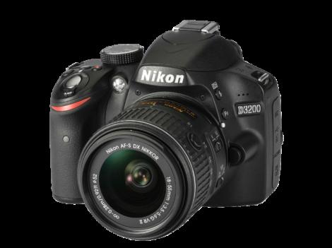 NIKON-D3200-18-55mm-VRII-schwarz--Digitale-Spiegelreflexkamera--24.2-Megapixel--CMOS-Sensor--7-5-cm-(2.95-Zoll)-TFT-LCD