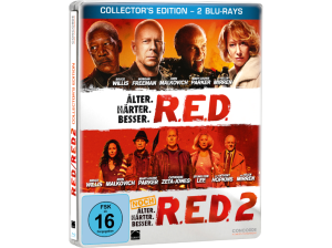 R.E.D.---R.E.D.-2-(Steelbook-Edition)---(Blu-ray)