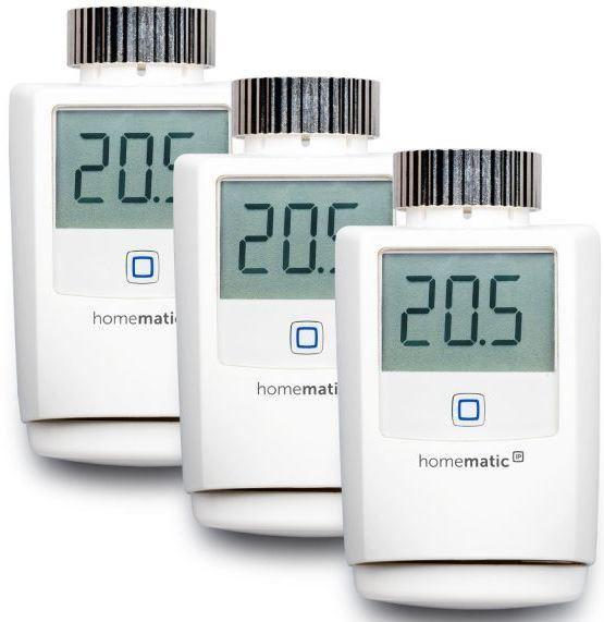 3er set homematic ip smart home heizk rperthermostat f r 99 90 inkl versand. Black Bedroom Furniture Sets. Home Design Ideas