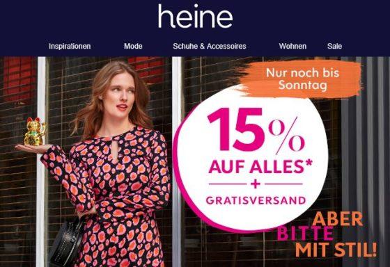 quality design da2cf 55549 heine.de: 15% Rabatt auf Alles + keine Versandkosten | juppp.de