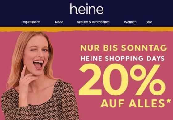 watch ef58f 7b3b4 heine.de: bis 70% im Sale + 20% Extra-Rabatt durch Gutschein ...